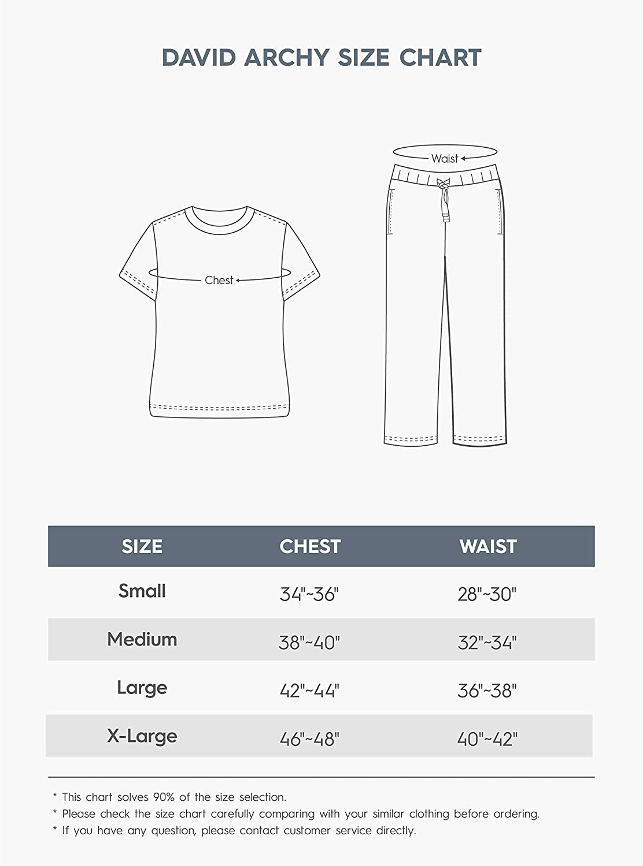 DAVID ARCHY Men's Cotton PJs Heather Striped Sleepwear Lounge Wear Top & Bottom Pajama Set at  Men's Clothing store