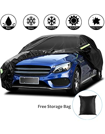 Color : Black Compatible with Mercedes-AMG C63 Waterproof Full Coverage Car Cover Four Seasons Available Protective Cover Snowproof Windroof Thermal Insulation Car Umbrella Cover