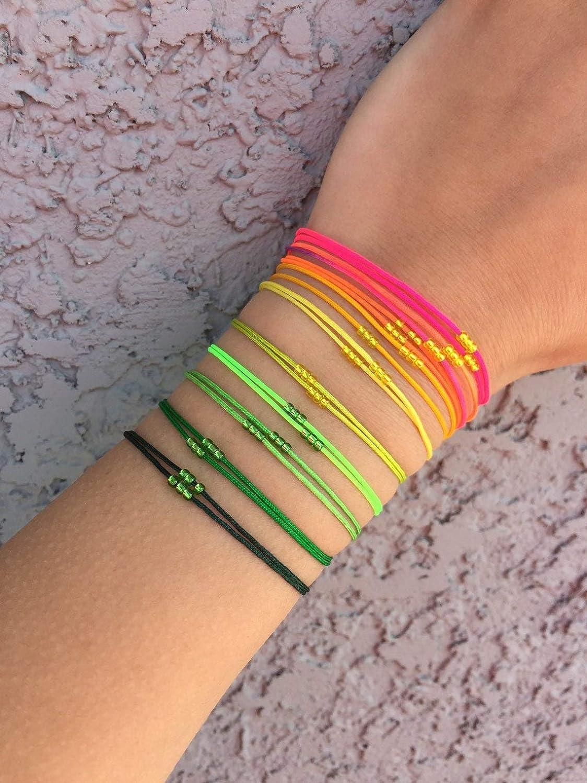 Waterproof Jewelry Neon Cord Bracelet Neon Yellow Cord Bracelet Mens Surfer Bracelet Mens Beach Bracelet