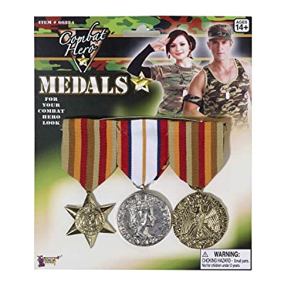 Forum Novelties Combat Hero Medals Standard: Toys & Games