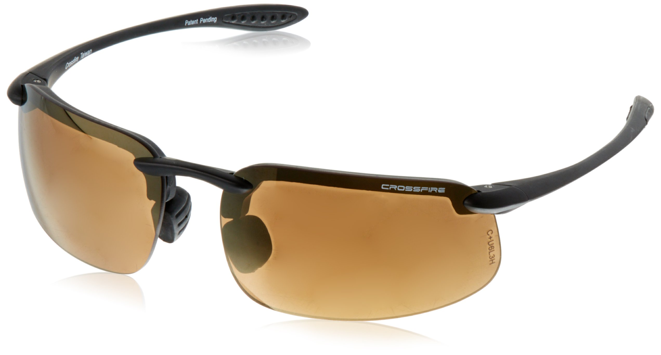 Crossfire Eyewear 216115 1.5 Diopter ES4 Safety Glasses with Black Frame and Bronze Lens by Crossfire Eyewear