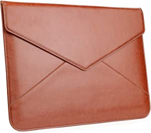 TYTX Leather Laptop Sleeve Envelope Case for Old MacBook Air 13-inch 2010-2017 A1466 A1369, 13 Inch MacBook Pro 2012-2015 A1278 A1502 A1425 (Old MacBook 13 inch, Brown)