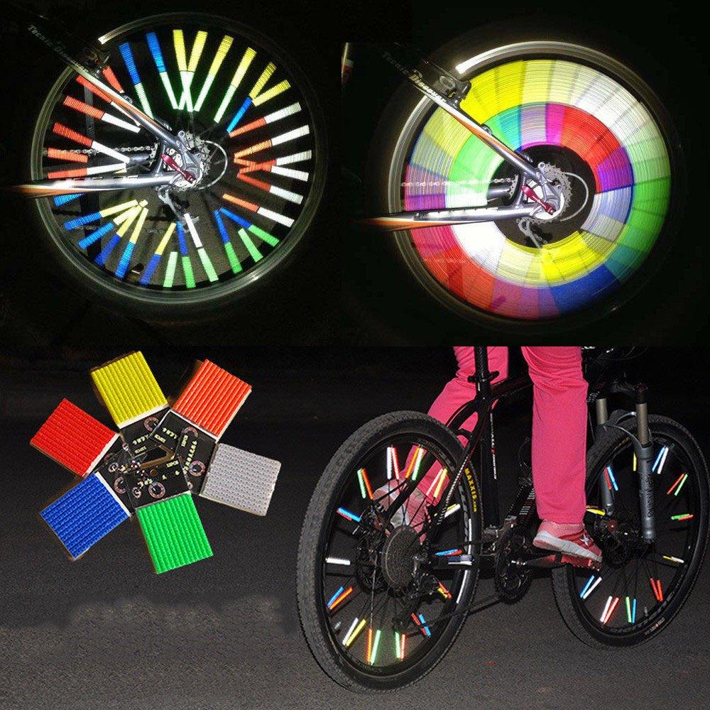 4pc Bicycle Bike Wheel Reflective Spoke Safe Reflectors for Mountain Road