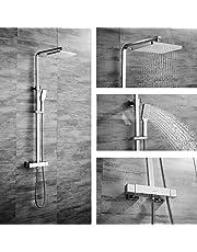 OLEAH Mezclador de Ducha Termostático para el Baño Sistema de Ducha Conjunto de Mezclador de Ducha