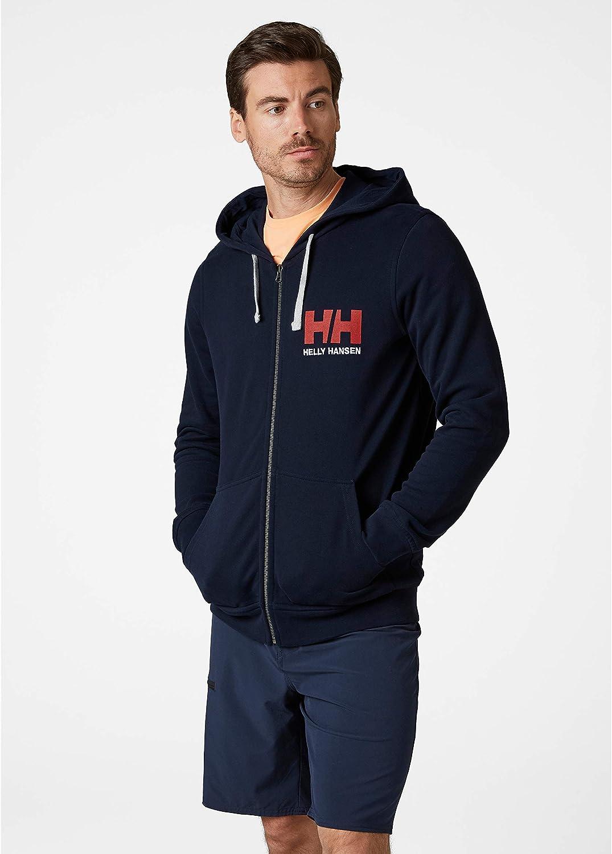 Helly-Hansen Mens Hh Logo Full Zip Hooded French Terry Sweatshirt