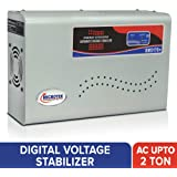 Microtek EM5170+ Automatic Voltage Stabilizer for AC up to 2 ton (170V-270V), Metallic Grey – LED Display, Wall Mounted