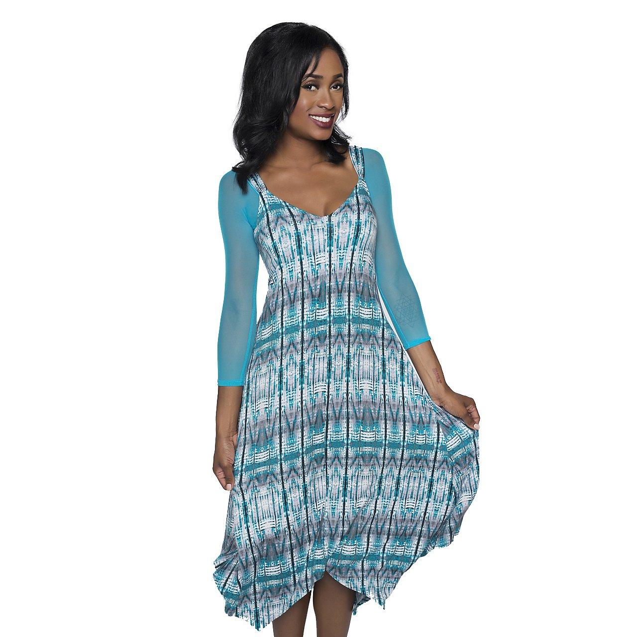 Sleevey Wonders Women's Basic 3/4 Length Mesh Sleeve Turquoise Size Medium