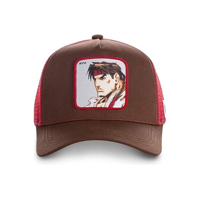 Capslab Gorras Street Fighter Ryu Brown/Red Trucker: Amazon.es ...