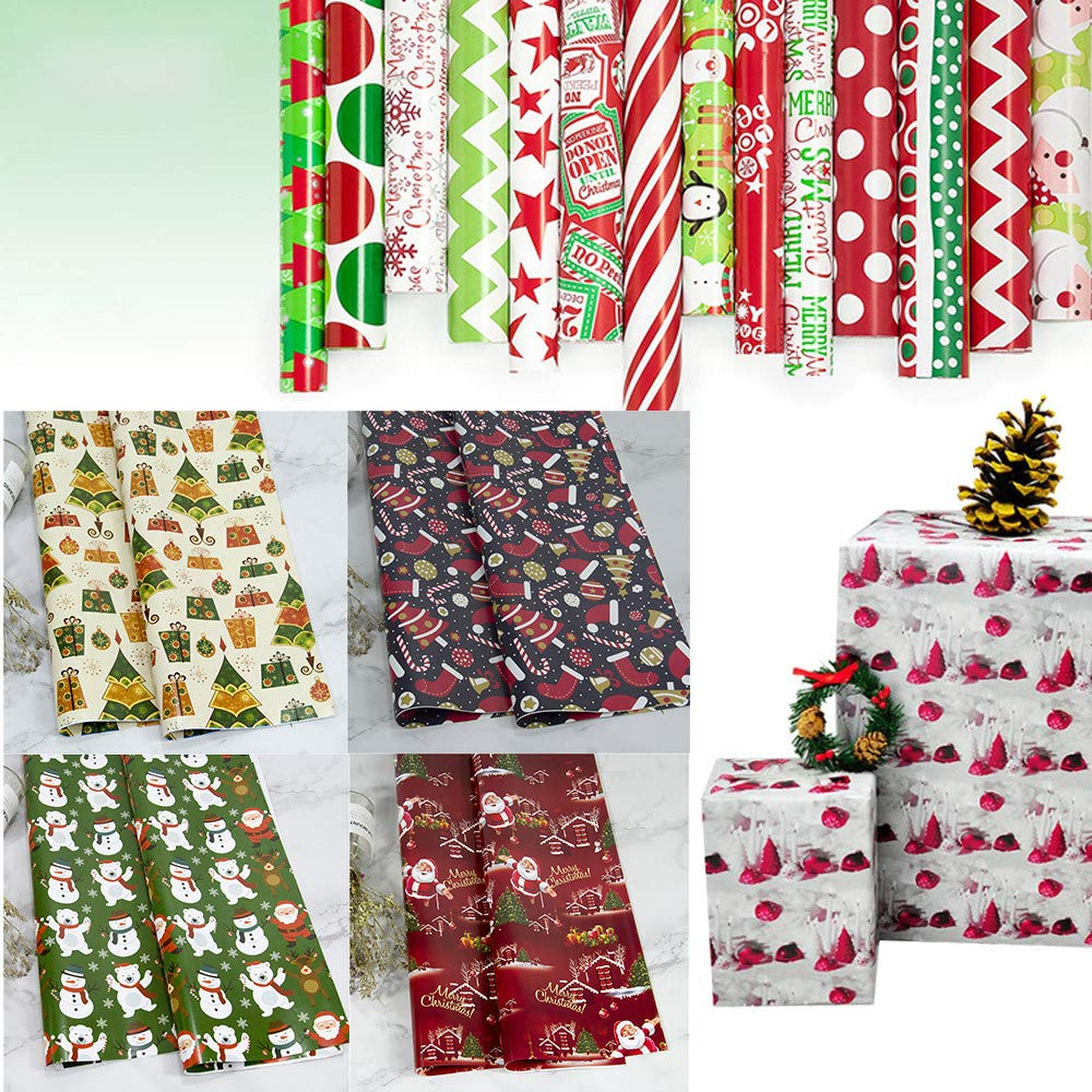 78a69220a Christmas Wrapping Paper Xmas Cutter Storage Box Birthday Gift ...