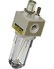 "PneumaticPlus SAL2000M-N02B Miniature Compressed Air Lubricator 1/4"" NPT - Poly Bowl, Bracket"