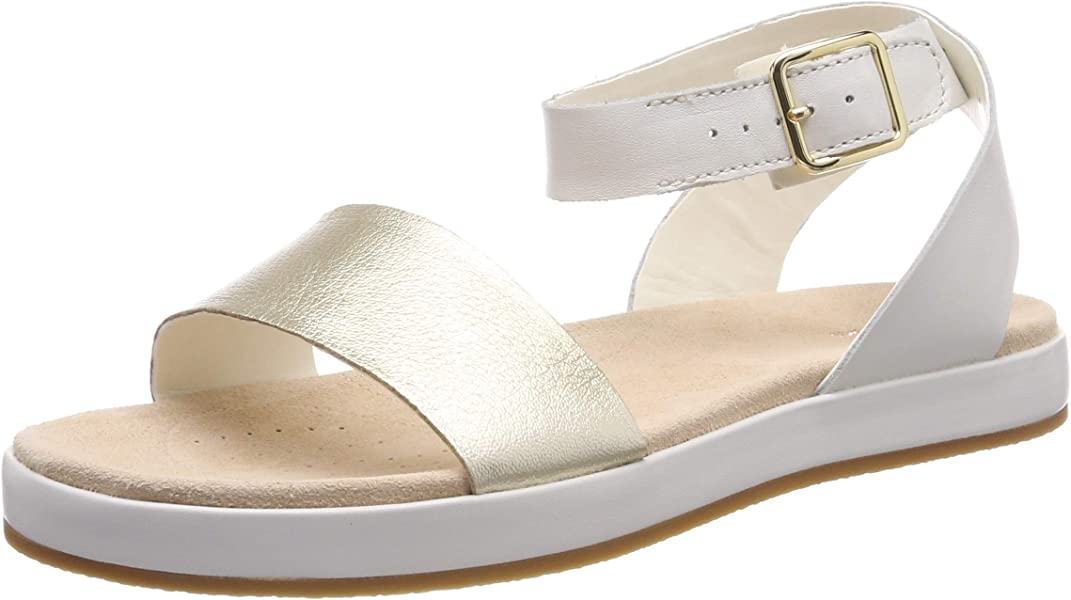 8abdcd2b683a Clarks Botanic Ivy Leather Sandals in Cream Standard Fit Size 3 ...