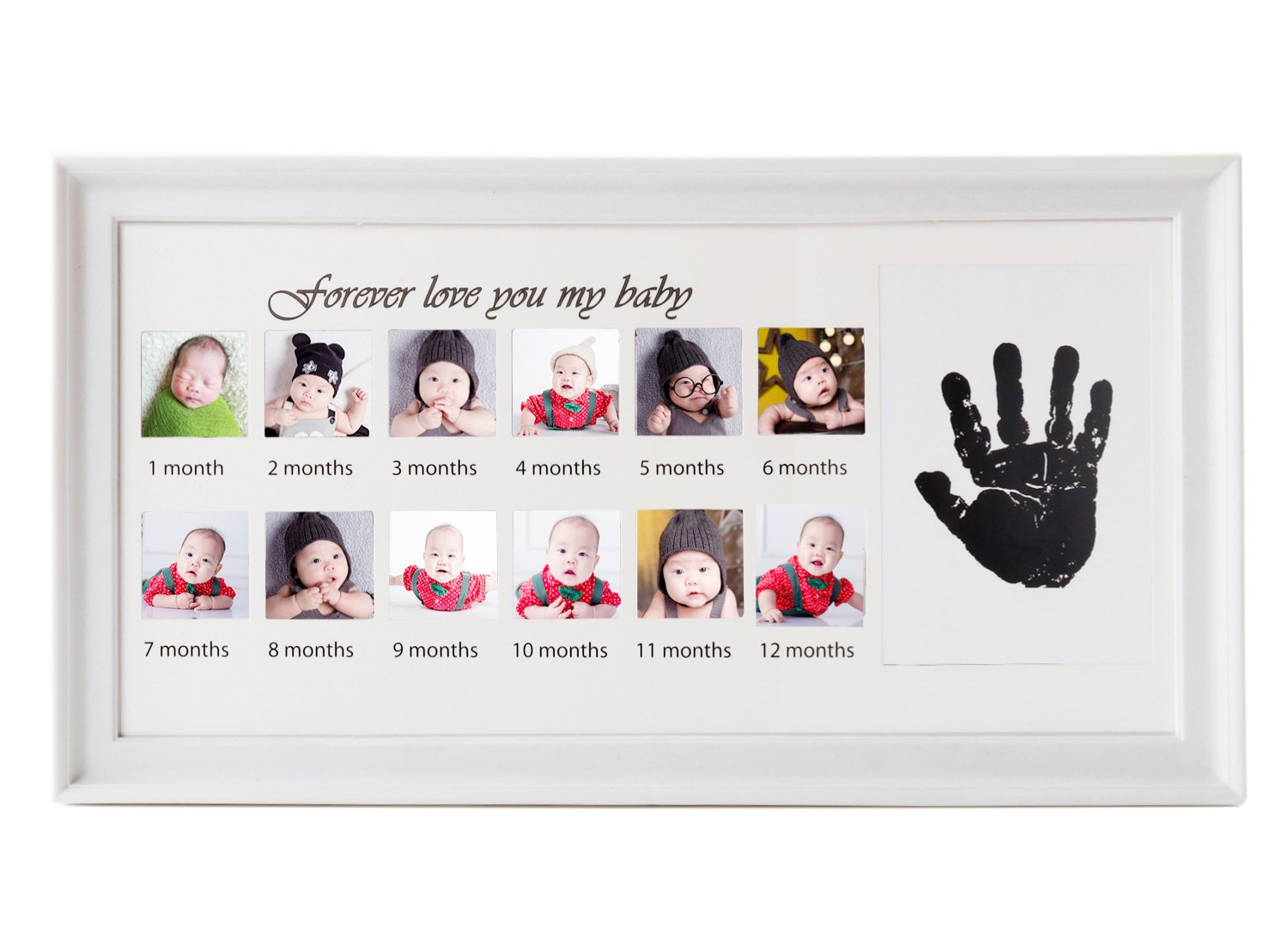 Baby Handprint Kit and Footprint Photo Frame for Newborn Boys and Girls, Baby Shower Gift, Memorable Keepsake Feiyar