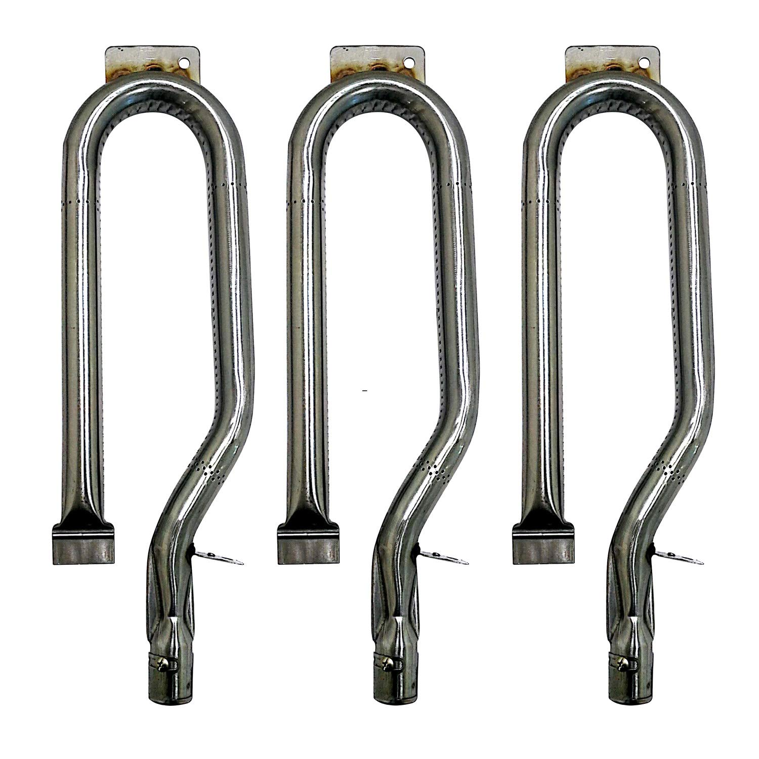 16431 (3-pack) Universal BBQ Barbecue Replacement Stainless Steel Pipe Tube Burner for BBQ Pro, Lowes Model Grills (15 1/2
