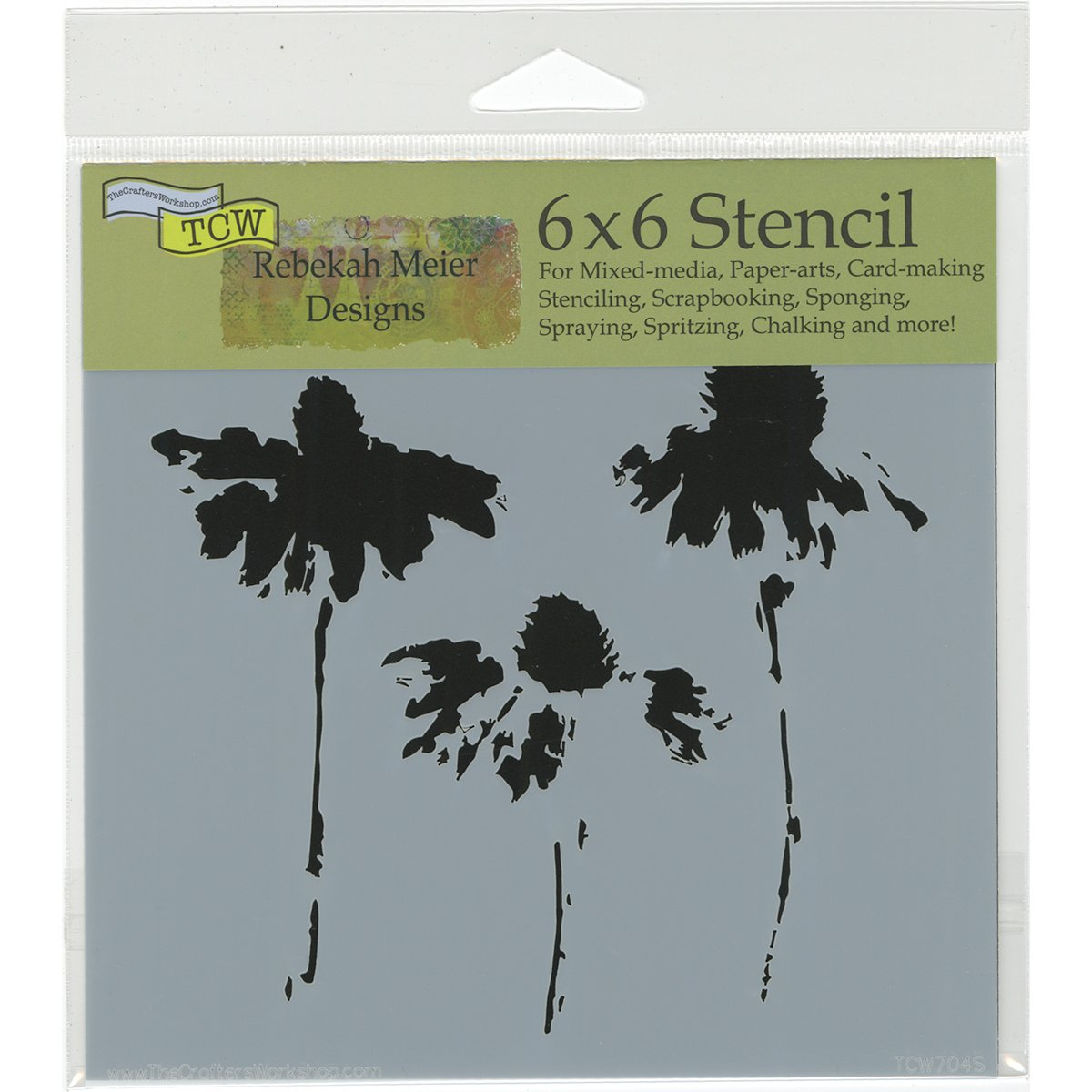 18 x 16 x 0.1 cm The Crafters Workshop Tile Mania Stencil 6 x 6-Inch Transparent