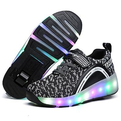 Nsasy Girls Boys Skate Roller Shoes (32 EUR   2 M US Little Kid e49293d67