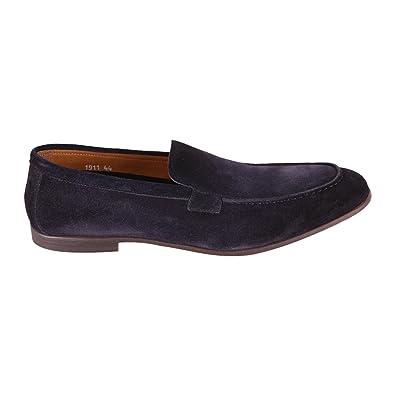 269bf6f1e76 Doucals Men s Du1911elbauz0670b00 Blue Leather Loafers