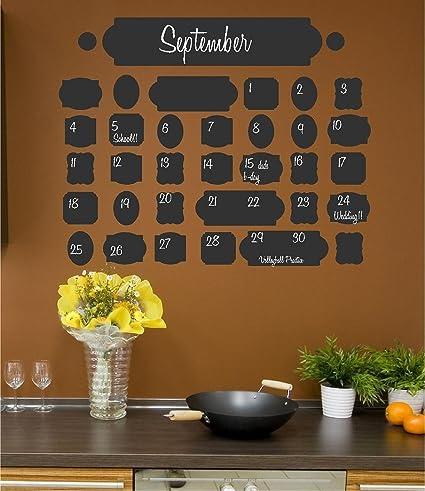 Amazon.com: Vintage Chalkboard Calendar wall saying vinyl lettering ...