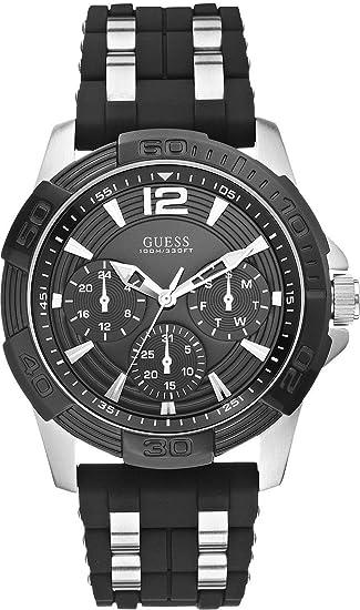Guess Reloj Análogo clásico para Hombre de Cuarzo con Correa en Acero Inoxidable W0366G1: Amazon.es: Relojes