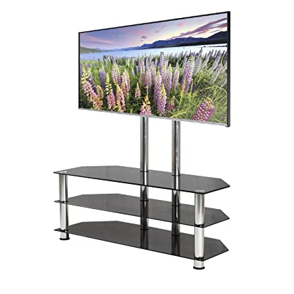 Mountright Cantilever Glass Tv Stand For Up To 60 Inch Screens