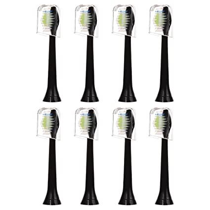 8pcs (2x4) E-Cron cepillo de dientes cabezales con tapas higiénicas de viaje