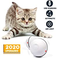 Cat Toys Balls Interactive Automatic Self Rotating Rolling Balls for Cat Toys Rechargeable LED Light Entertainment Cat Balls Pet Exercise Balls for Kitten Puppy -Newest Version