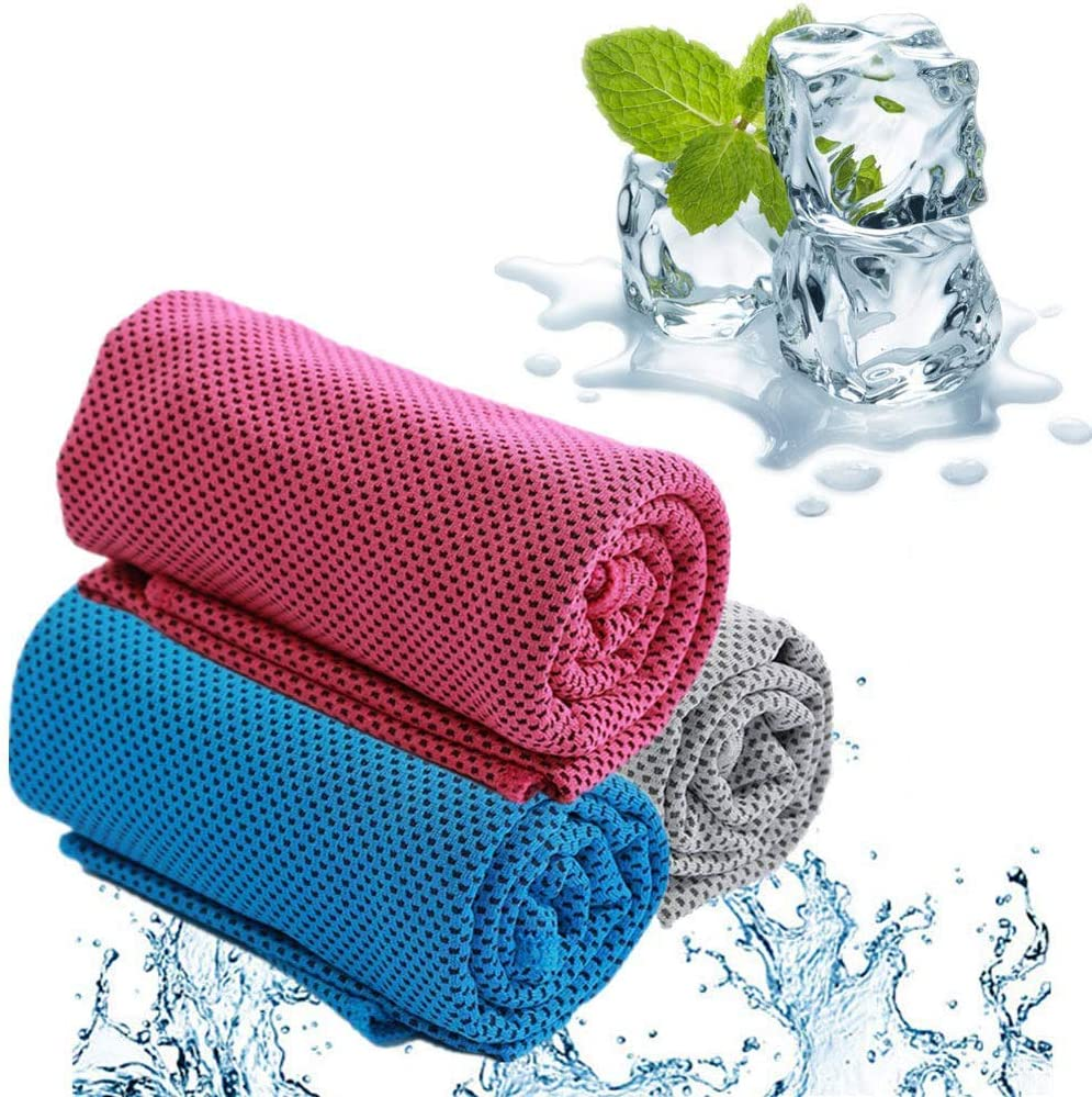 Cooling Towel Sport Towel Snap Cool Towel Multi-Purpose Super Soft Breathable Towel for Golf,Travel,Yoga,Camping and Gym