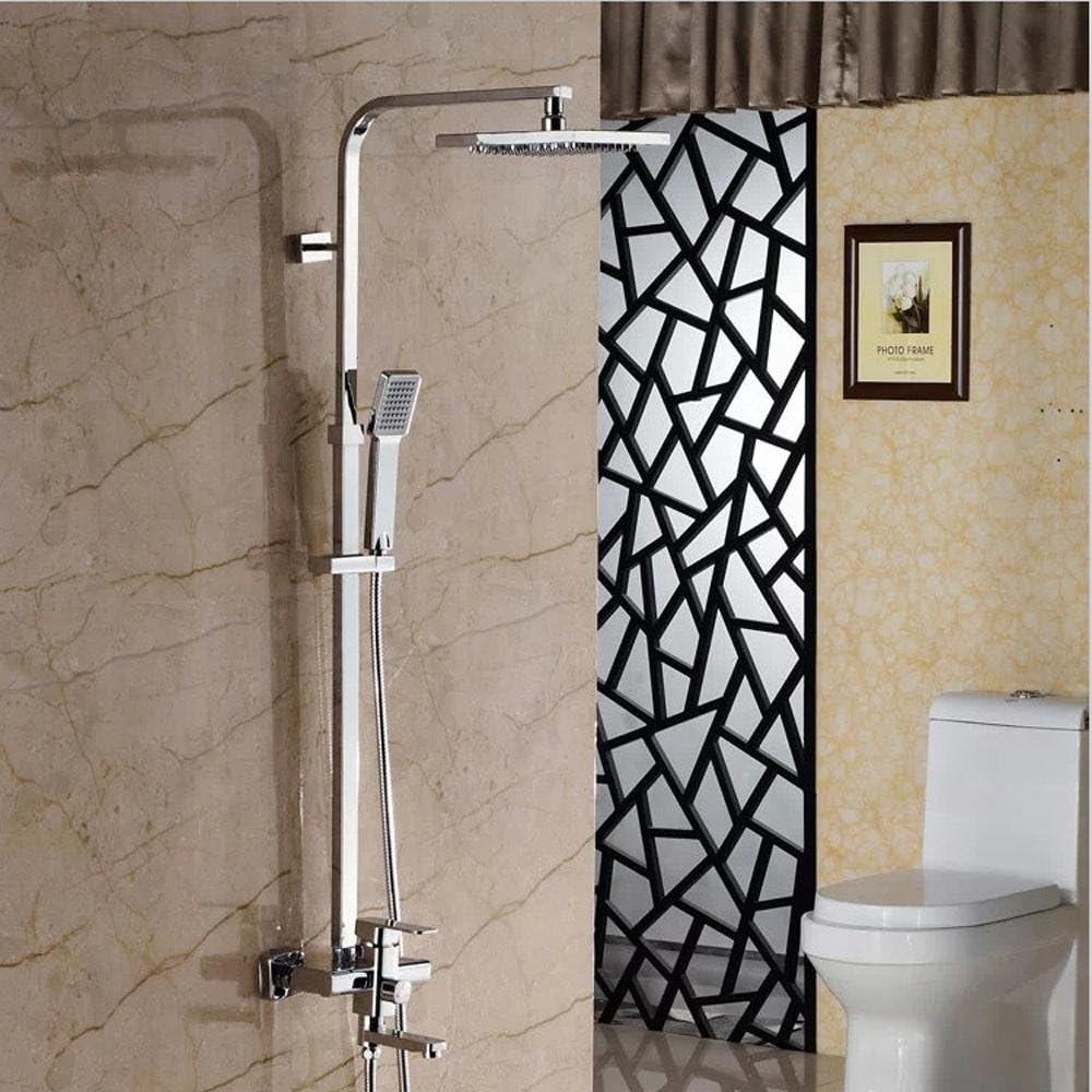 ssby de ducha, baño de ducha de Juego, Cobre ducha grifo ducha de agua caliente y fría, bajo Impresión pie duchas: Amazon.es: Hogar