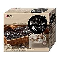 DAMTUH Korean Roast Black Grains Mixed Powder with Black Beans, Black Sesame Seeds...