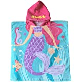 Child 100% Cotton Hooded Towel 24 x 48 inches (Mermaid)