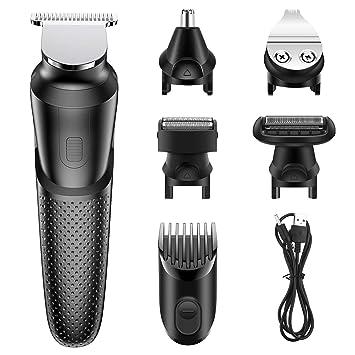 Babacom Cortapelos Profesional Hombre, 5 en 1 Multifuncional Maquina Cortar Pelo, USB Recargable Reforzar Poder Afeitadora Electrica Hombre para ...