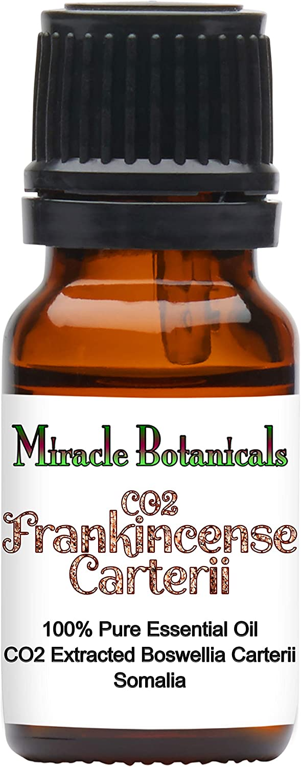 Miracle Botanicals CO2 Extracted Frankincense Carterii Essential Oil - 100% Pure Boswellia Carterii - Therapeutic Grade - 10ml