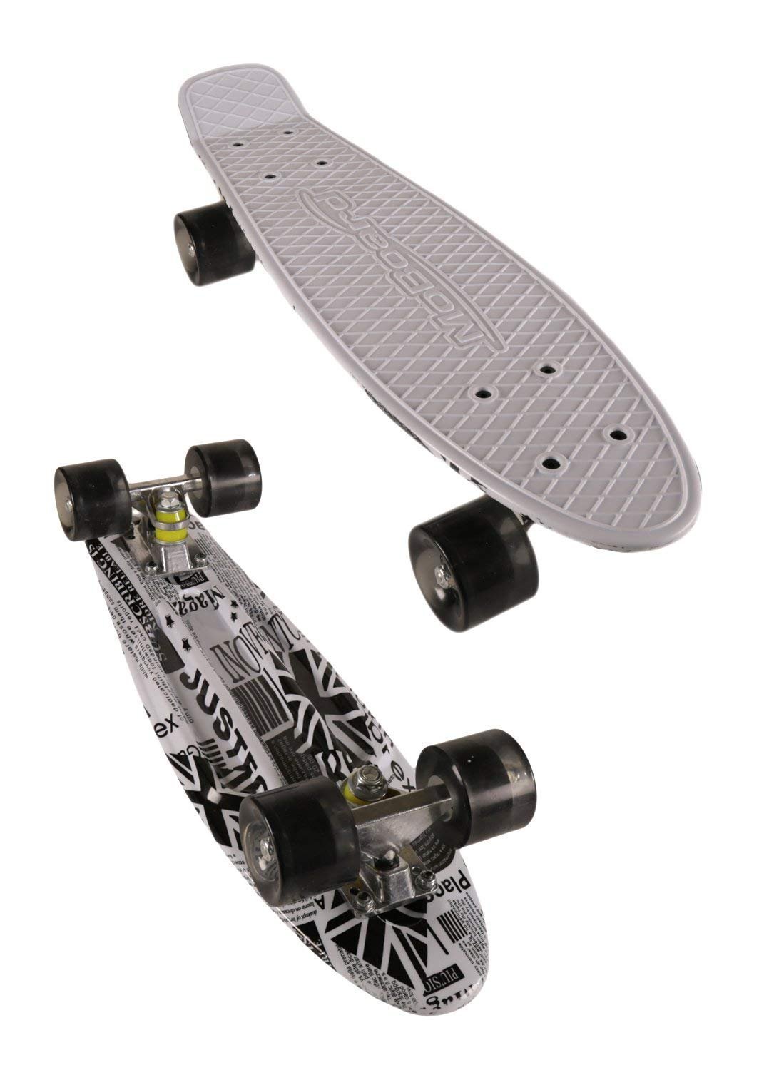 MoBoard Graphic Complete Skateboard (White-Clear/black)