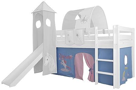 Etagenbett Vorhang Blau : Vorhang baumwolle stoff fa r hochbett spielbett etagenbett