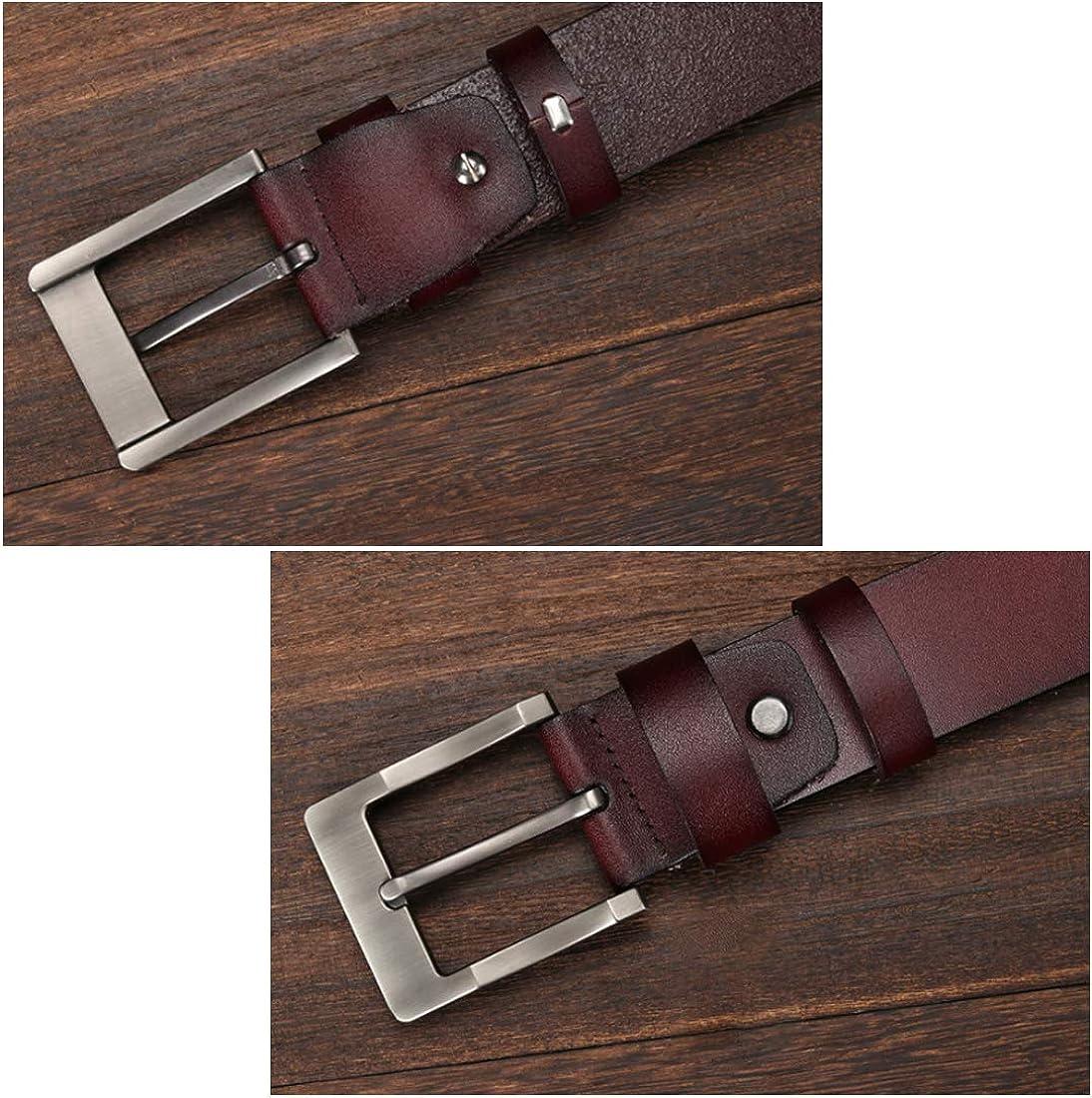 Huicai Mens belt leather belt anti-slip man waist belt pant belt