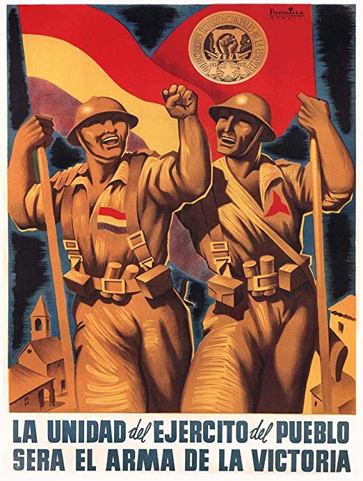 War Propaganda Spain Civil Republic Militia Giant Wall Art Poster Print