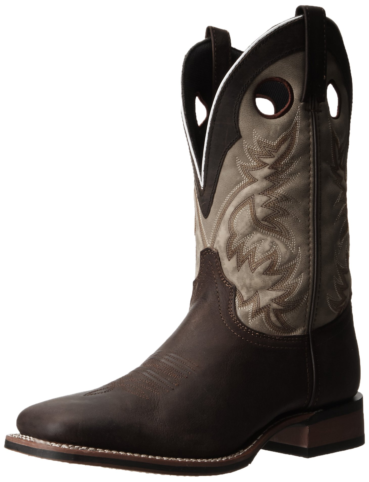 Laredo Men's Collared Western Boot,Dark Brown/Tan,13 XW US