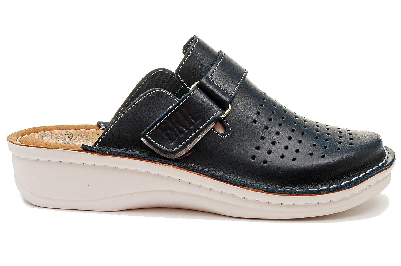 Dr Punto Rosso BRIL Sabots D52 Sabots Mules Chaussons Dr Chaussures B019373534 en Cuir Femme Dames Bleu c4e55a8 - boatplans.space