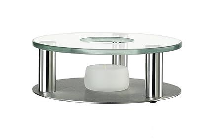 Fairwerk - Hornillo para velas de té (cristal y acero inoxidable