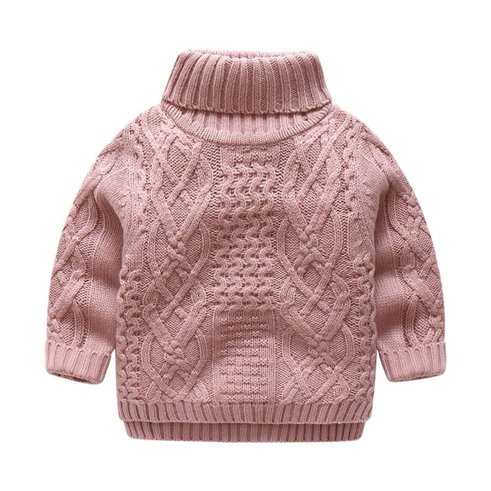 Mud Kingdom Boys' Cable Knit Turtleneck Sweater Solid Color SS0544