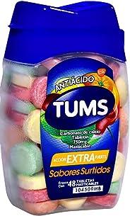Tums Tabletas Extra Surtidos Masticable, 48 Piezas