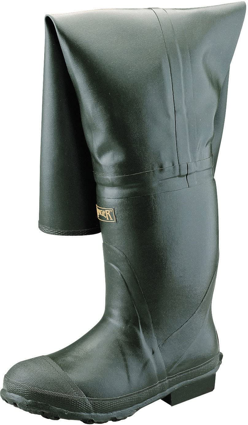 Forest Green A2300 Ranger Bullhead 32 Heavy-Duty Mens Full Rubber Insulated Hip Boots