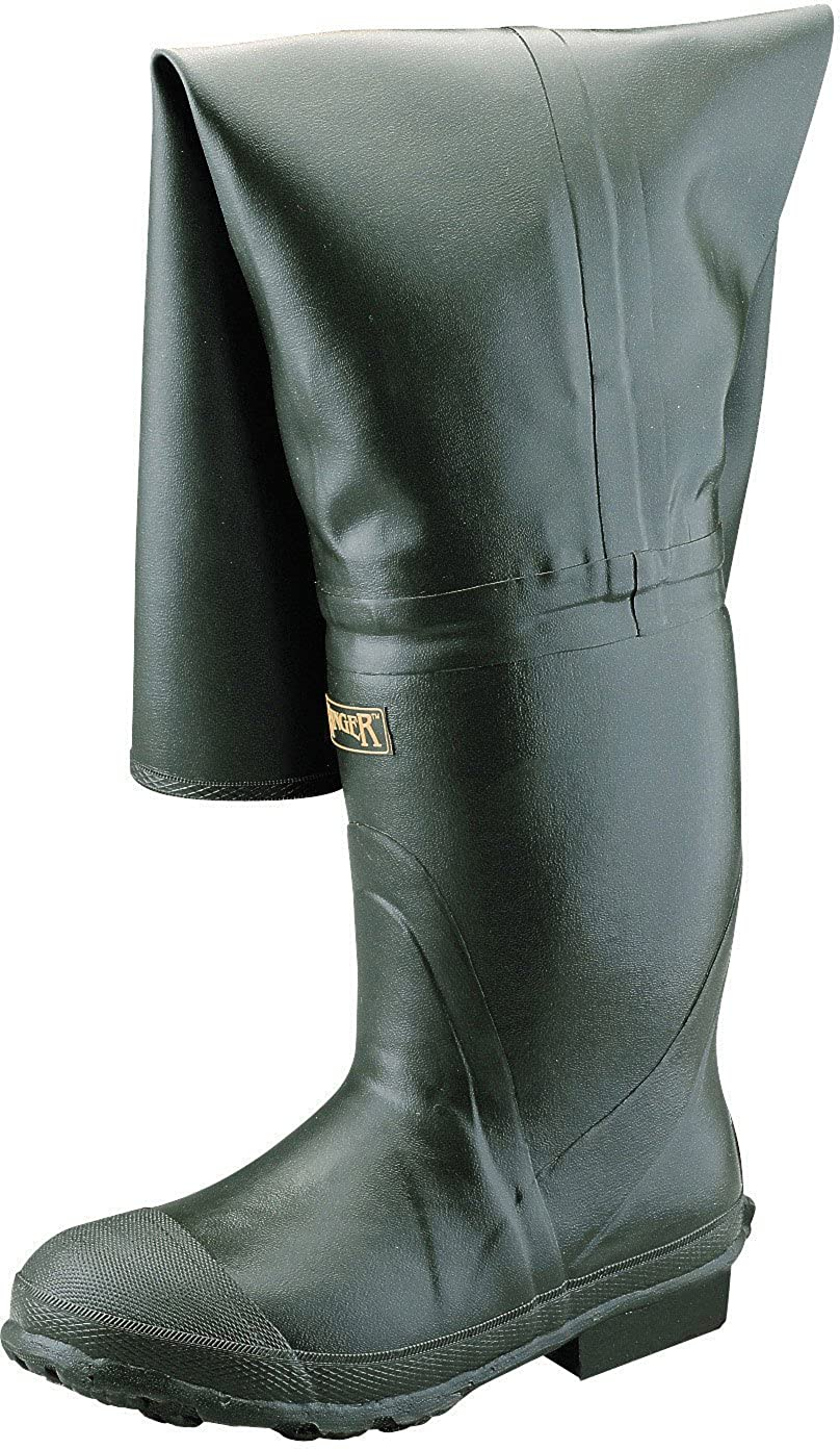 Forest Green Ranger Bullhead 32 Heavy-Duty Mens Full Rubber Insulated Hip Boots A2300