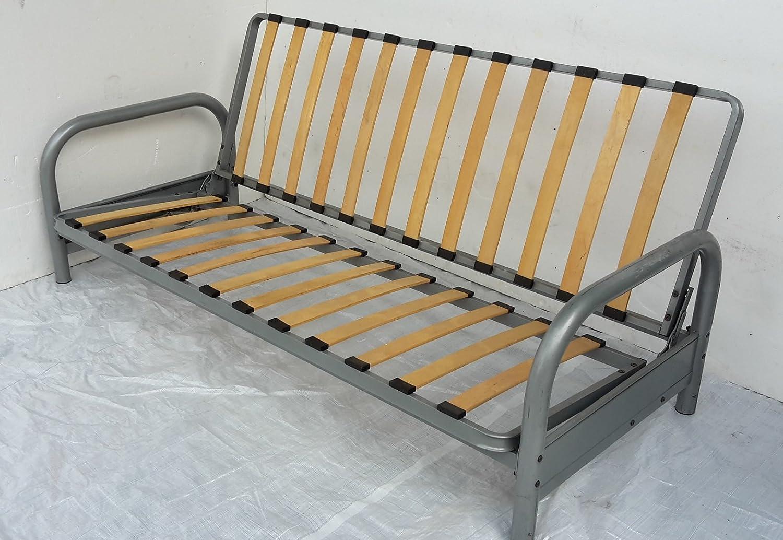 full innerspring futon kitchen com wood navy monterey size amazon sofa dining bed frame suede butternut mattress dp
