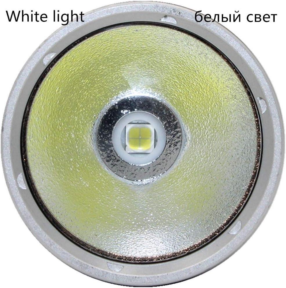 LED Yellow/White Light 4000 Lumens Diving Flashlight Underwater Spearfishing Led Diving Lamp Torches (Body Color : Yellow Light) White Light