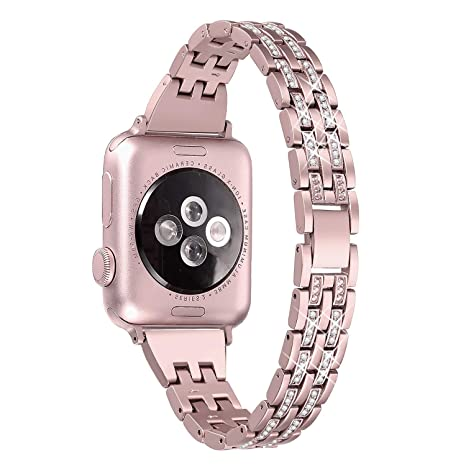 Myada Correa Apple Watch 38mm Acero Inoxidable, Correa Apple Watch Series 4 40mm, Pulsera Apple Watch 4 Metal de con Cierre Magnético, Pulsera ...