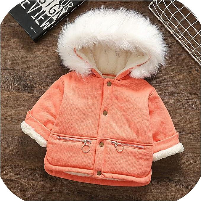 Amaone Baby Winter Coats for 1-6 Years Girls Kids Toddler Faux Fur Fleece Trench Coat Winter Warm Coats Jackets Outerwear