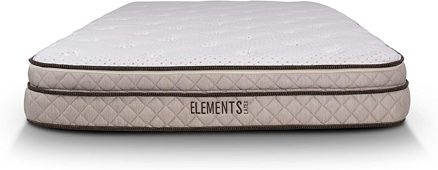 Elements Latex by Dreamfoam Bedding- Magnolia 10 Total Latex Mattress, Twin-Firm