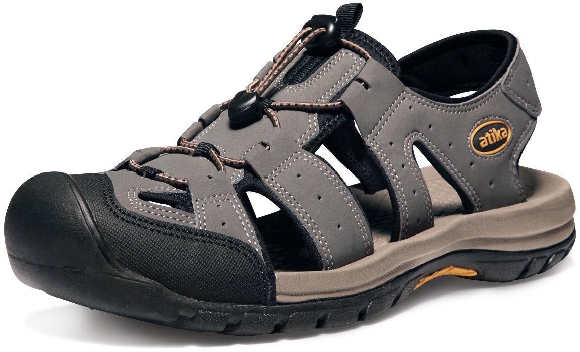 ATIKAメンズスポーツサンダルMaya Trailアウトドア水靴m106 /m107 /m110 /m111 B07B7GBR75 Men 11 D(M) AT-M108-GRY