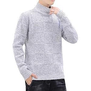 セーター メンズ ビッグシルエット カジュアル 長袖 ニットlight グレー XL
