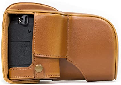 MegaGear Ever Ready Leather Camera Case Compatible with Panasonic Lumix DMC G85, G8 (12 60mm)